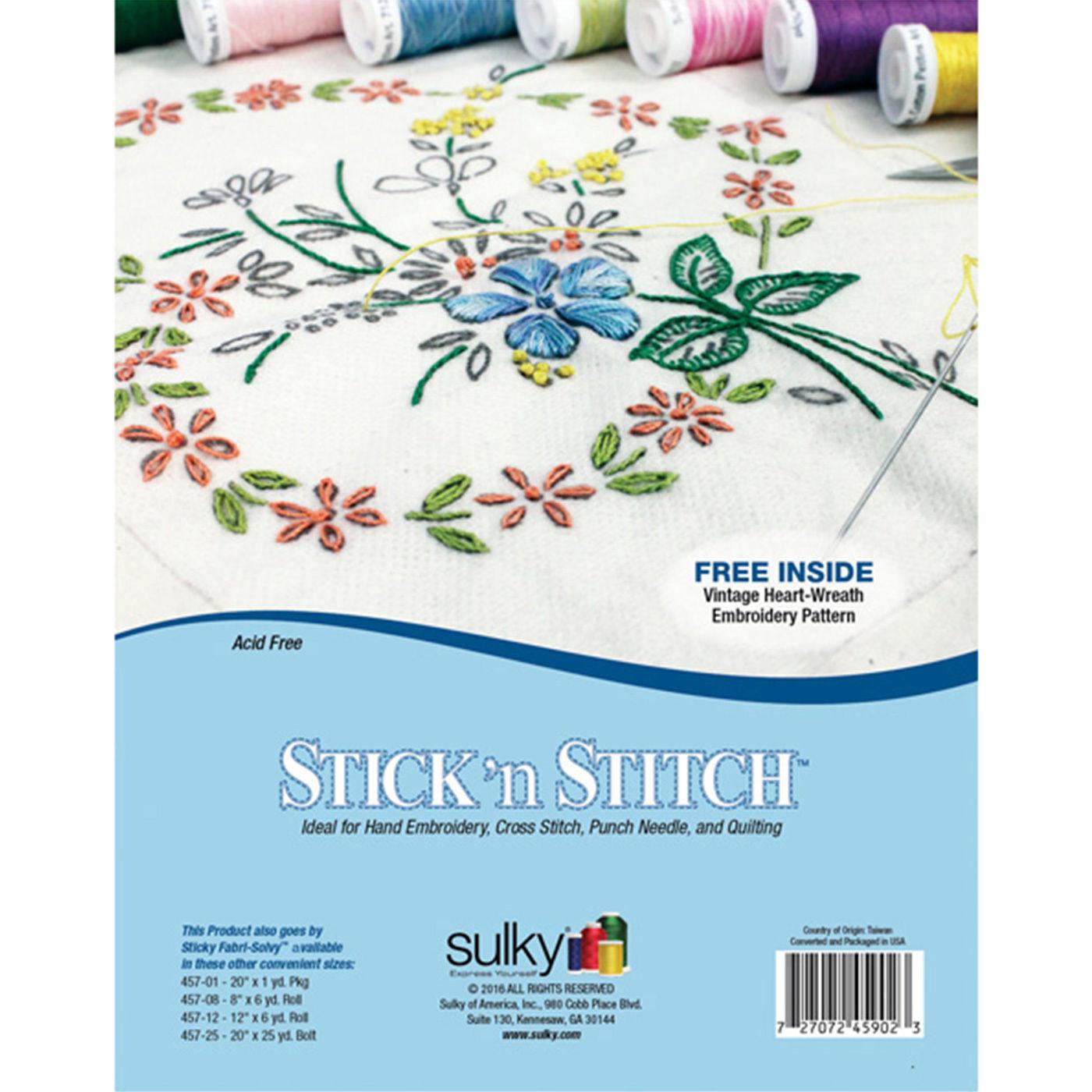 Sulky 457-25 Sticky Fabri-Solvy Stabilizer